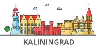 Ορίζοντας πόλεων Kaliningrad διανυσματική απεικόνιση