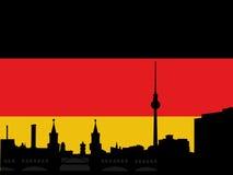 ορίζοντας σημαιών του Βερολίνου Στοκ εικόνες με δικαίωμα ελεύθερης χρήσης