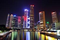 ορίζοντας Σινγκαπούρης πόλεων Στοκ Εικόνες