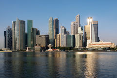 ορίζοντας Σινγκαπούρης Στοκ εικόνα με δικαίωμα ελεύθερης χρήσης