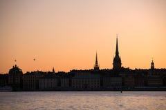 ορίζοντας Στοκχόλμη Στοκ Εικόνες