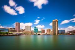 Ορίζοντας της Βαλτιμόρης, Μέρυλαντ, ΗΠΑ στο εσωτερικό λιμάνι στοκ φωτογραφία