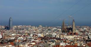 ορίζοντας της Βαρκελώνης Στοκ εικόνα με δικαίωμα ελεύθερης χρήσης