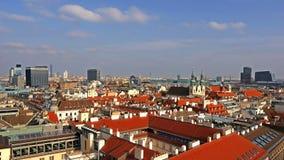 Ορίζοντας της Βιέννης, Αυστρία εναέρια όψη της Βιέννης χρόνος-σφάλμα australites Η Βιέννη Wien είναι η κύρια και μεγαλύτερη πόλη απόθεμα βίντεο
