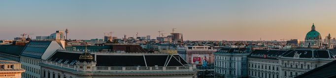 Ορίζοντας της Βιέννης στο σούρουπο Στοκ φωτογραφία με δικαίωμα ελεύθερης χρήσης