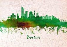 Ορίζοντας της Βοστώνης Μασαχουσέτη απεικόνιση αποθεμάτων