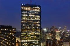 Ορίζοντας της Βοστώνης τη νύχτα, Μασαχουσέτη, ΗΠΑ Στοκ Φωτογραφία