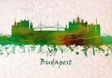 Ορίζοντας της Βουδαπέστης Ουγγαρία ελεύθερη απεικόνιση δικαιώματος