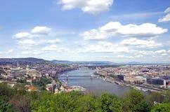 ορίζοντας της Βουδαπέστης Στοκ Εικόνες