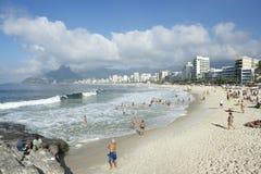 Ορίζοντας της Βραζιλίας Ρίο ντε Τζανέιρο παραλιών Ipanema Arpoador Στοκ Εικόνες
