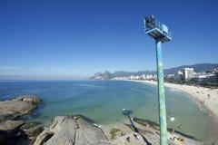 Ορίζοντας της Βραζιλίας Ρίο ντε Τζανέιρο παραλιών Ipanema Arpoador Στοκ Εικόνα