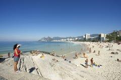 Ορίζοντας της Βραζιλίας Ρίο ντε Τζανέιρο παραλιών Ipanema Arpoador Στοκ φωτογραφίες με δικαίωμα ελεύθερης χρήσης