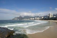 Ορίζοντας της Βραζιλίας Ρίο ντε Τζανέιρο παραλιών Ipanema Arpoador Στοκ φωτογραφία με δικαίωμα ελεύθερης χρήσης