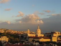 ορίζοντας της Λισσαβώνας στοκ φωτογραφίες