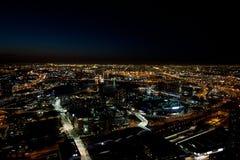 Ορίζοντας της Μελβούρνης τή νύχτα Στοκ φωτογραφία με δικαίωμα ελεύθερης χρήσης