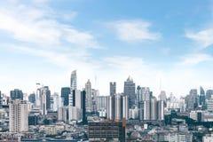 ορίζοντας της Μπανγκόκ εικονικής παράστασης πόλης, Ταϊλάνδη Η Μπανγκόκ είναι μητρόπολη και φ στοκ εικόνα με δικαίωμα ελεύθερης χρήσης