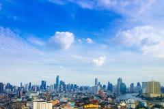 ορίζοντας της Μπανγκόκ εικονικής παράστασης πόλης, Ταϊλάνδη Η Μπανγκόκ είναι μητρόπολη και φ στοκ εικόνες