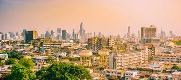 ορίζοντας της Μπανγκόκ εικονικής παράστασης πόλης, Ταϊλάνδη Η Μπανγκόκ είναι μητρόπολη στοκ εικόνα