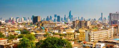 ορίζοντας της Μπανγκόκ εικονικής παράστασης πόλης, Ταϊλάνδη Η Μπανγκόκ είναι μητρόπολη στοκ φωτογραφία