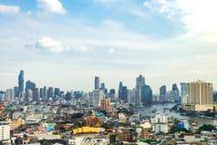 ορίζοντας της Μπανγκόκ εικονικής παράστασης πόλης, Ταϊλάνδη Η Μπανγκόκ είναι το περισσότερο populou Στοκ Εικόνες