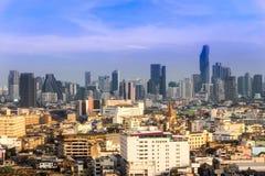 ορίζοντας της Μπανγκόκ εικονικής παράστασης πόλης, Ταϊλάνδη Η Μπανγκόκ είναι μητρόπολη και φ στοκ φωτογραφίες με δικαίωμα ελεύθερης χρήσης