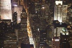 Ορίζοντας της Νέας Υόρκης τη νύχτα Στοκ φωτογραφίες με δικαίωμα ελεύθερης χρήσης
