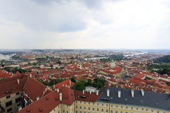Ορίζοντας της Πράγας, Δημοκρατία της Τσεχίας - 1 Μαΐου 2014 στοκ φωτογραφία με δικαίωμα ελεύθερης χρήσης