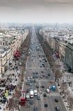 Ορίζοντας της πόλης του Παρισιού στη Γαλλία Στοκ Εικόνες