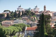 Ορίζοντας της Ρώμης από το Hill Aventine στοκ εικόνα με δικαίωμα ελεύθερης χρήσης