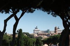 Ορίζοντας της Ρώμης από το Hill Aventine στοκ εικόνες