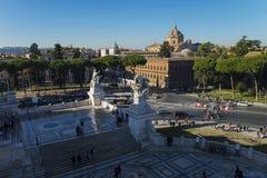 Ορίζοντας της Ρώμης και θόλοι της εκκλησίας της Σάντα Μαρία Di Loreto Στοκ φωτογραφίες με δικαίωμα ελεύθερης χρήσης