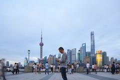Ορίζοντας της Σαγκάη στην Κίνα Στοκ Φωτογραφίες