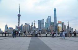 Ορίζοντας της Σαγκάη στην Κίνα Στοκ Εικόνες