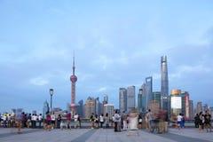 Ορίζοντας της Σαγκάη στην Κίνα Στοκ εικόνες με δικαίωμα ελεύθερης χρήσης