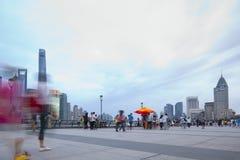 Ορίζοντας της Σαγκάη στην Κίνα Στοκ φωτογραφία με δικαίωμα ελεύθερης χρήσης