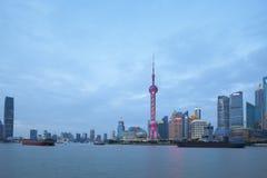 Ορίζοντας της Σαγκάη στην Κίνα Στοκ Φωτογραφία