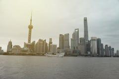 Ορίζοντας της Σαγκάη στην Κίνα Στοκ Εικόνα