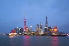 Ορίζοντας της Σαγκάη στην Κίνα Στοκ φωτογραφίες με δικαίωμα ελεύθερης χρήσης