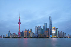 Ορίζοντας της Σαγκάη στην Κίνα Στοκ εικόνα με δικαίωμα ελεύθερης χρήσης
