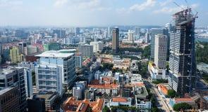 Ορίζοντας της Σιγκαπούρης από τη στέγη Στοκ Φωτογραφία