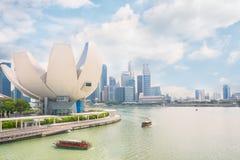 Ορίζοντας της Σιγκαπούρης και άποψη του κόλπου μαρινών Στοκ Εικόνα