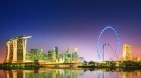 Ορίζοντας της Σιγκαπούρης και άποψη του κόλπου μαρινών Στοκ φωτογραφία με δικαίωμα ελεύθερης χρήσης