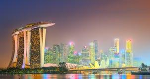 Ορίζοντας της Σιγκαπούρης και άποψη του κόλπου μαρινών Στοκ εικόνα με δικαίωμα ελεύθερης χρήσης