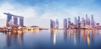 Ορίζοντας της Σιγκαπούρης Στοκ φωτογραφία με δικαίωμα ελεύθερης χρήσης