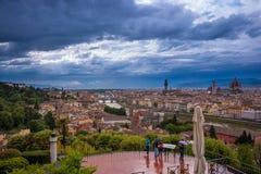 ορίζοντας Τοσκάνη της Φλωρεντίας Ιταλία πόλεων Στοκ εικόνες με δικαίωμα ελεύθερης χρήσης