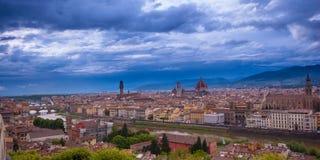 ορίζοντας Τοσκάνη της Φλωρεντίας Ιταλία πόλεων Στοκ Φωτογραφία