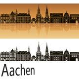 Ορίζοντας του Άαχεν στο πορτοκάλι απεικόνιση αποθεμάτων