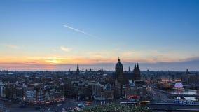 Ορίζοντας του Άμστερνταμ timelapse απόθεμα βίντεο