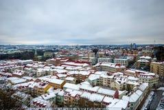 Ορίζοντας του Γκέτεμπουργκ το χειμώνα, φωτογραφία HDR Στοκ Εικόνα