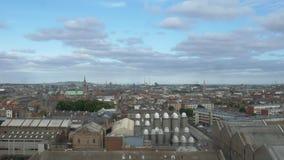 Ορίζοντας του Δουβλίνου που πυροβολείται στην Ιρλανδία απόθεμα βίντεο